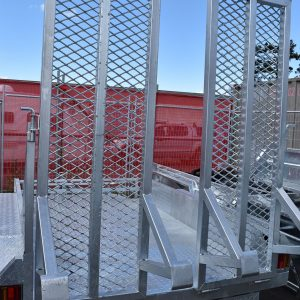 Single Axle Trailer 8ft x 4ft with Ramps